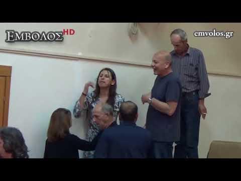Επεισόδια και ένταση στην ομιλία του βουλευτή ΚΚΕ Σάκη Βαρδαλή στο Δημαρχείο Αλεξάνδρειας