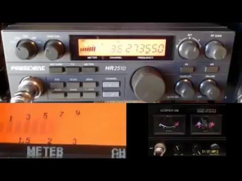 11meterdx Wagga Live Stream 10/2/2018 (27mHz Aussie CB radio) President HR2510