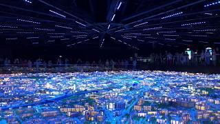 Панорама Москвы. ВДНХ. Музыкально-световое шоу.