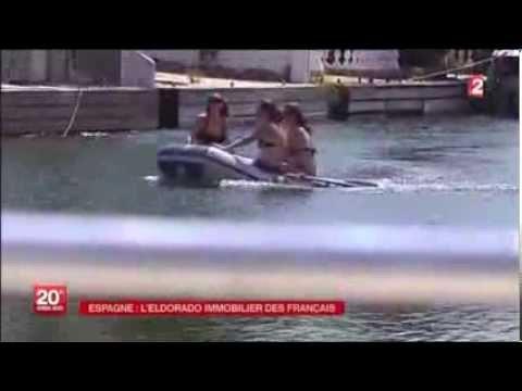 Reportage Journal TV du 20h sur France 2 le 16 aout 2013, Empuriabrava-Espagne