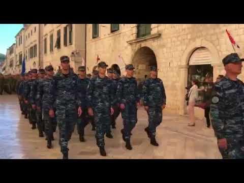 Obilježavanje 25. obljetnice deblokade juga Hrvatske - generalna proba