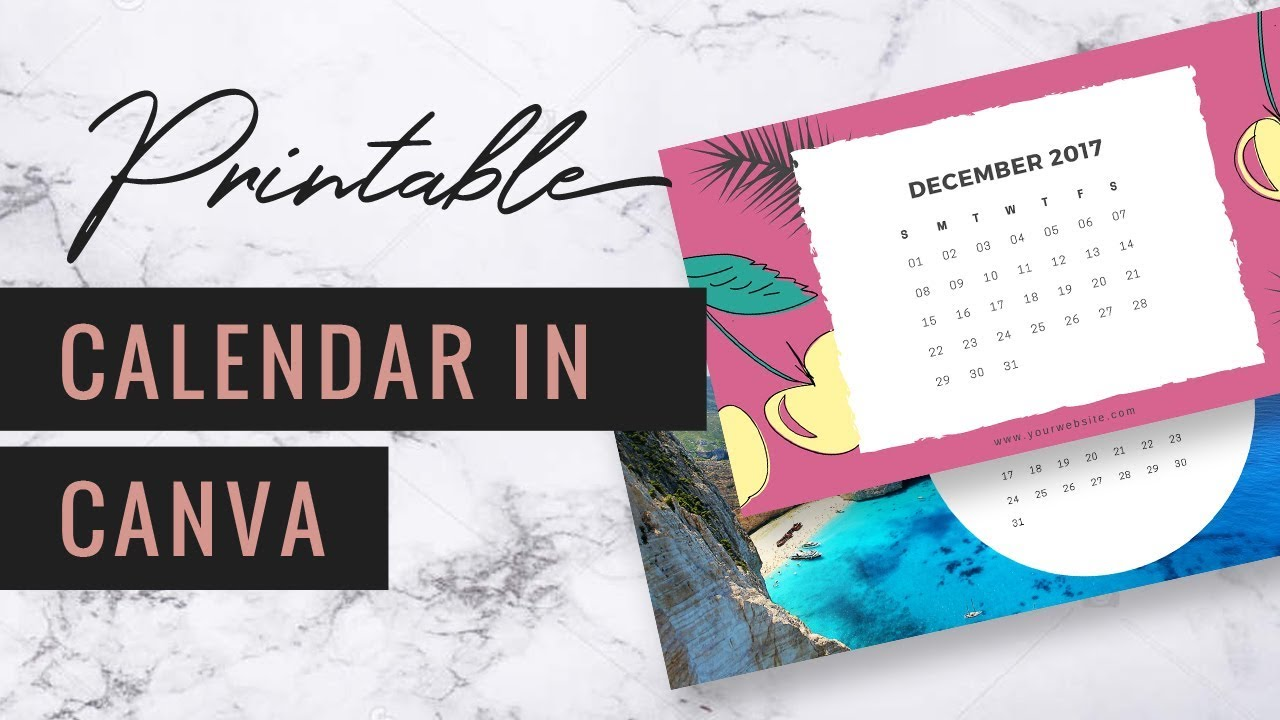 photo regarding How to Create a Printable titled How in direction of Deliver a Printable Calendar within just Canva ♡ Very simple Tutorials with Reina  Reina Gulle