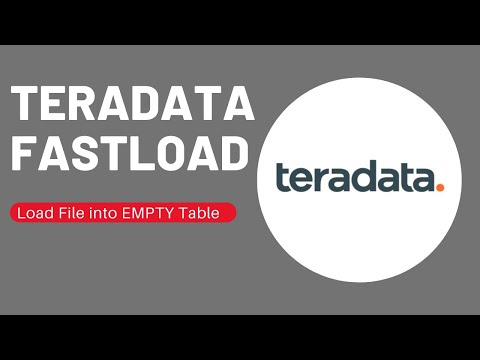 Teradata FASTLOAD - Overview , Syntax and Execution