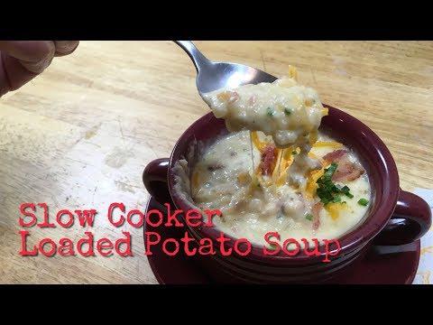 Slow Cooker Loaded Potato Soup / Slow Cooker / Loaded Potato Soup Recipe