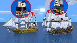 YENİ GEMİ YAPTIM VE KORSANLA SAVAŞTIM! - Minecraft