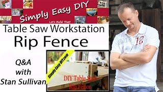 Diy Table Saw Rip Fence Q&a