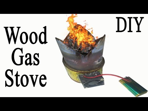 How to make a ★★Wood Gas Stove★★ With Tin Can