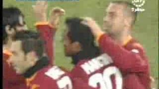Roma vs Sampdoria; Mancini's goal