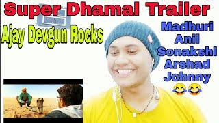 Total Dhamaal  Reaction VideoAjay DevgunAnil KapoorMadhri DixitSonakshi SinhaArshad