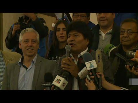 afpes: Morales celebra en Bolivia, sin mencionar segunda vuelta   AFP