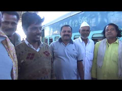 D K Pawar With Public In Railway Station Please Subscribe All India Banjara Sandesh Tv