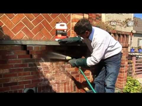 Cleaning brick and stone outdoor howto from home work - How to clean brick house exterior ...