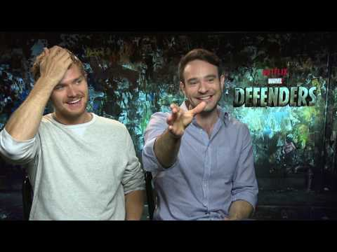 MARVEL´s THE DEFENDERS very funny  Interview with Finn Jones + Charlie Cox NETFLIX MARVEL - RingCon