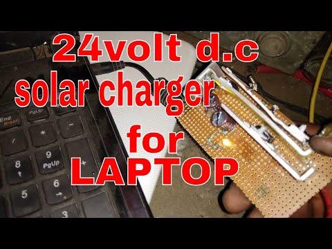 diy solar powered laptop adapter