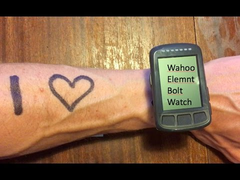 Triaby How To: Use the Wahoo Elemnt Bolt as a watch