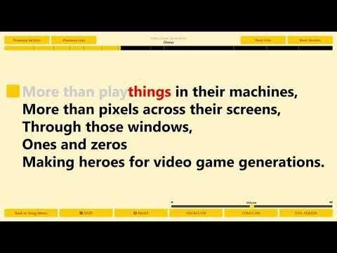 """Video Game Generations"" Sing It From Https://singit.app"