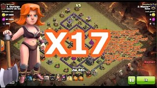 Clash of Clans | 17 Valkyries Smash Another Th9 | Mass Valkyrie Attack