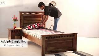 Single Beds : Buy Adolph Single Bed Online With Amazing Offer @ Wooden Street