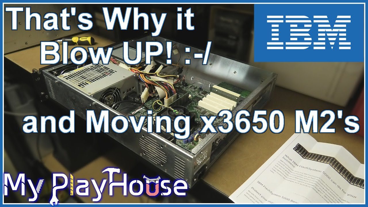 """Investigating Why Server """"Exploded"""" & Moving x3650 M2's - 1001"""