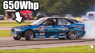homepage tile video photo for Supercharged LS Swapped 650Whp E36 Sedan Drift Review! *Screaming Bald Eagles*