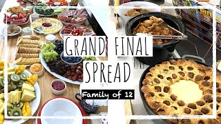 The ULTIMATE Last Minute Game Day Spread   Large Family Vlog