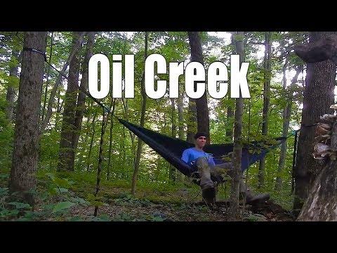 Hammock Camping Oil Creek PA - Backpacking the Gerard Trail
