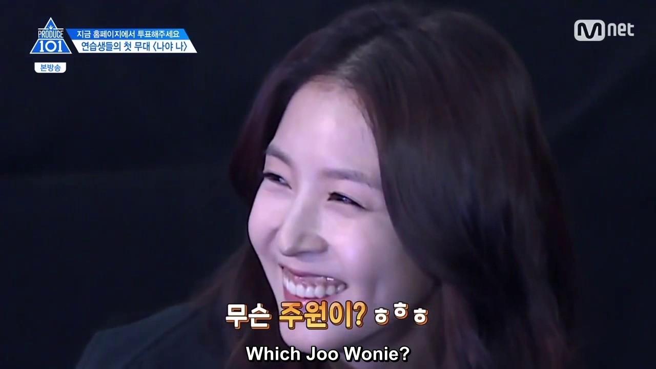 Eng Sub Produce 101 Boa Mentions Joo Won Youtube