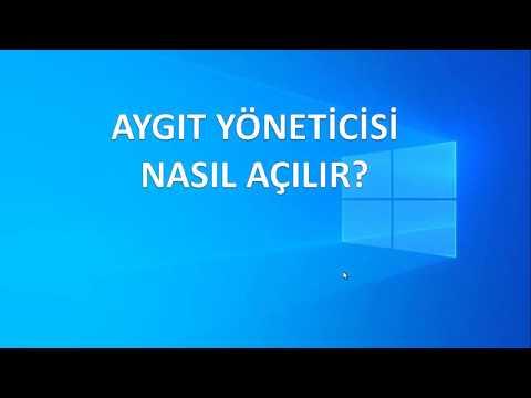 aygıt yöneticisi nasıl açılır windows 10