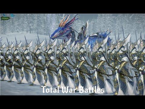 Snow Elves Vs Chaos Dwarfs in 4k   9,000 Unit Cinematic Battle   Total War Warhammer 2  
