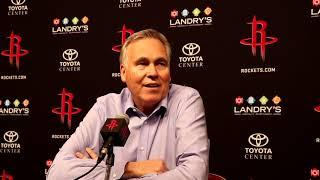 Mike D'Antoni Postgame Interview / Rockets vs Pistons