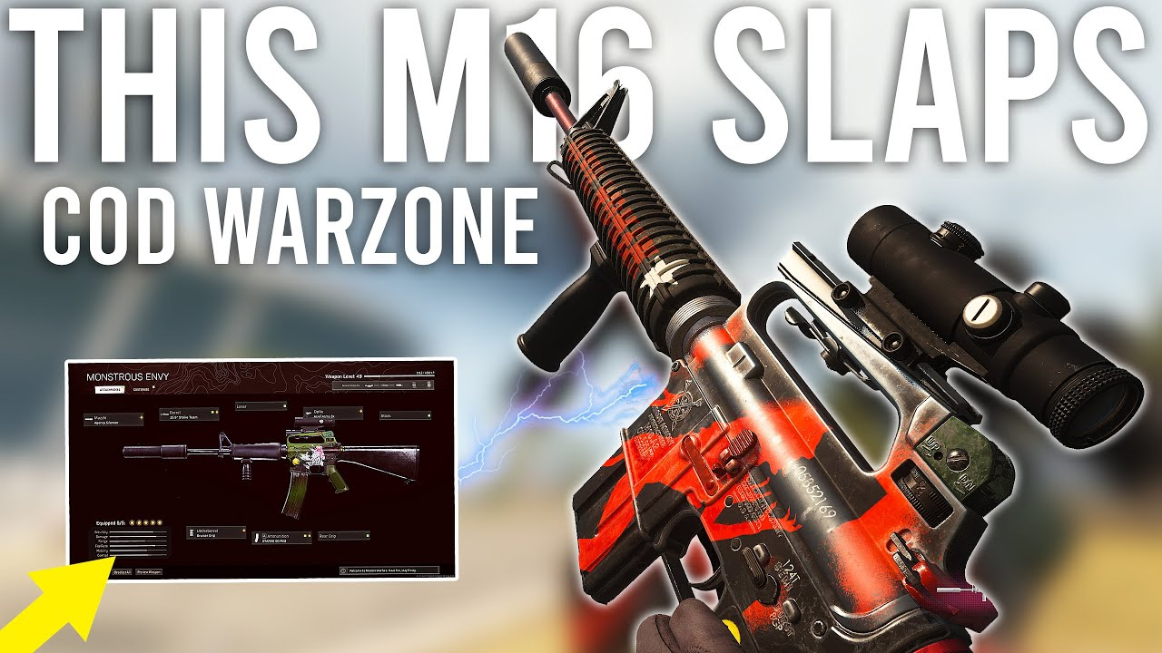 Download The M16 in COD Warzone actually DOMINATES now... I don't believe it.