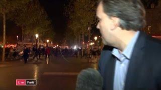 Matt Frei's live report as crowds run in panic