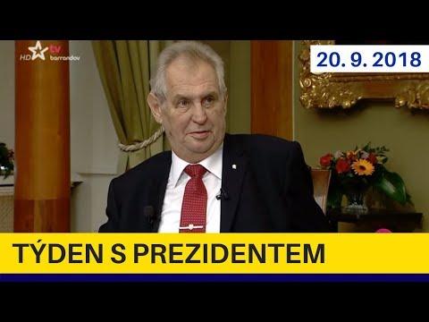Týden s prezidentem 20.9.2018. Miloš Zeman v pořadu Jaromíra Soukupa
