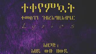 Temesgen Gebregziabher - Tekeyemkuwat ተቀየምኳት (Amharic With Lyrics)