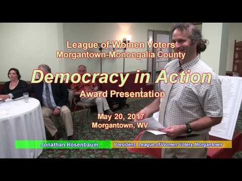 League of Women Voters Democracy in Action award, Morgantown, WV