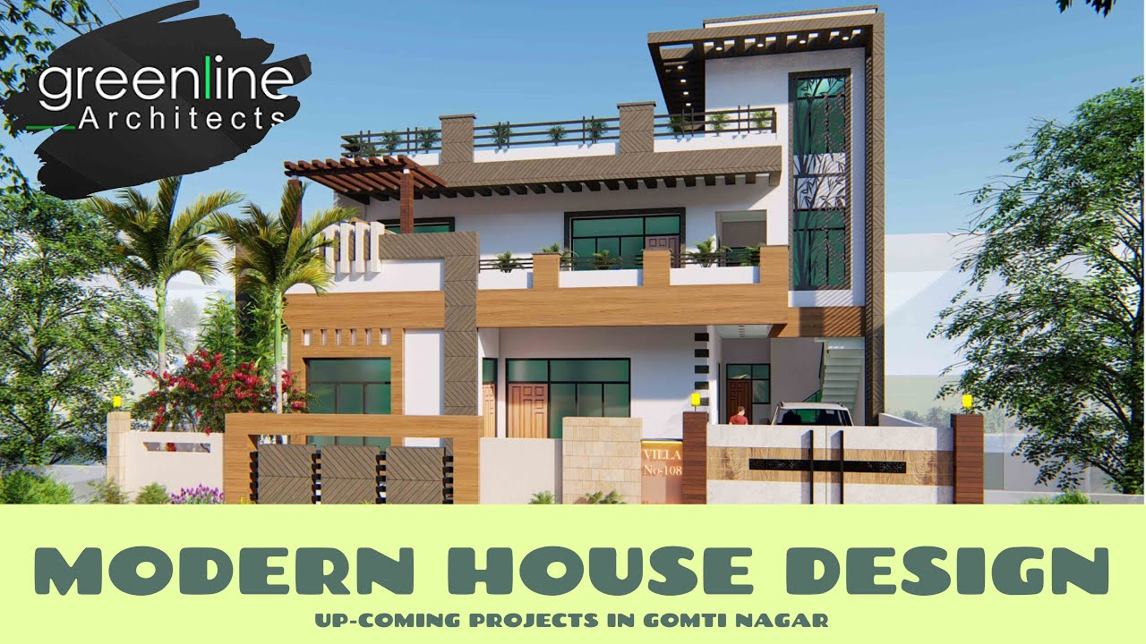 3200 sqft Modern House Design / Architecture 3D Video Walkthrough by best Architects in Lucknow
