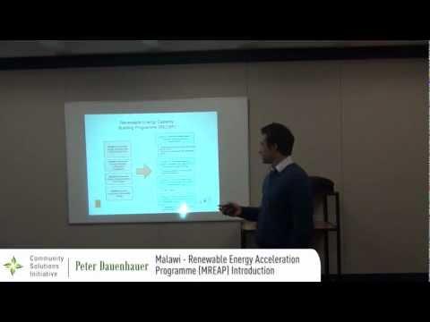 Power Africa 2012 - CSI - 17 - Peter Dauenhauer - Malawi Renewable Energy Acceleration Programme