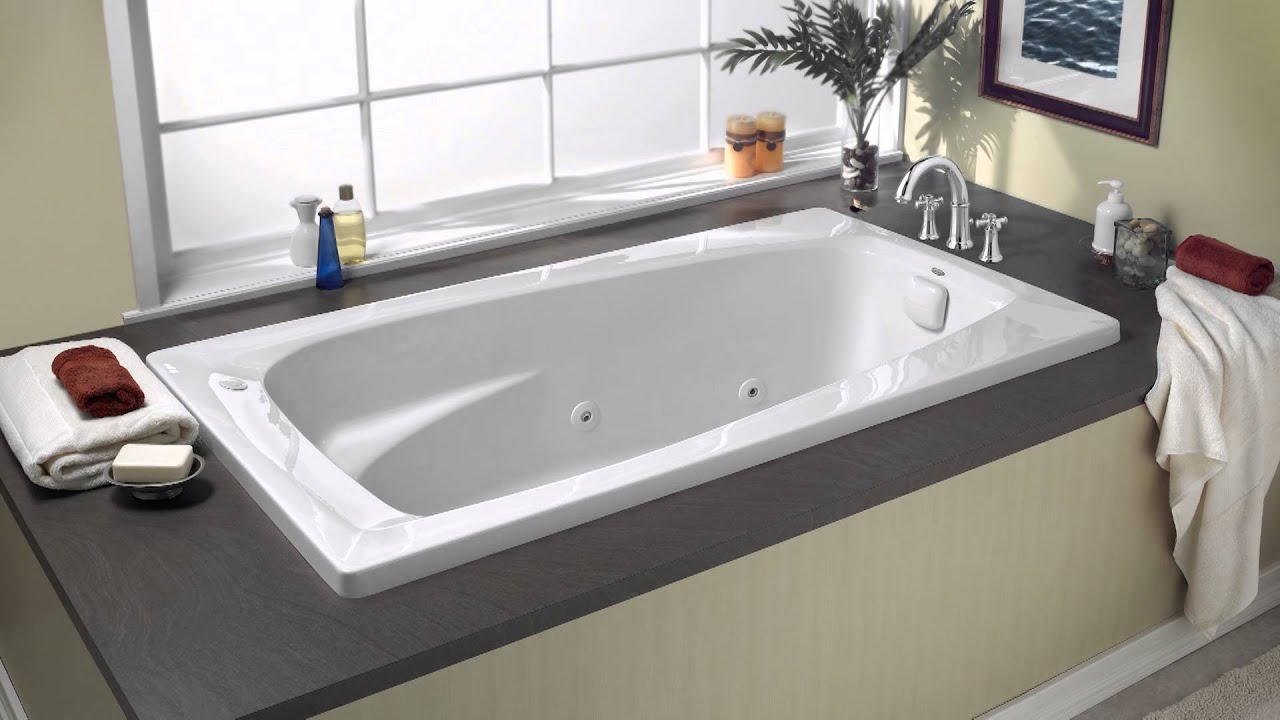 Everclean whirlpools by american standard youtube for Jet tub bathroom designs