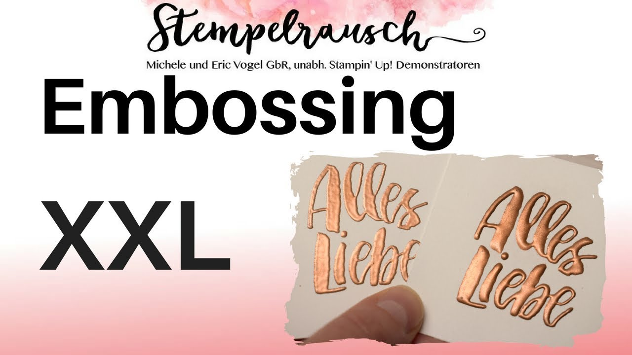Embossing Xxl Stamparatus Tipps Youtube