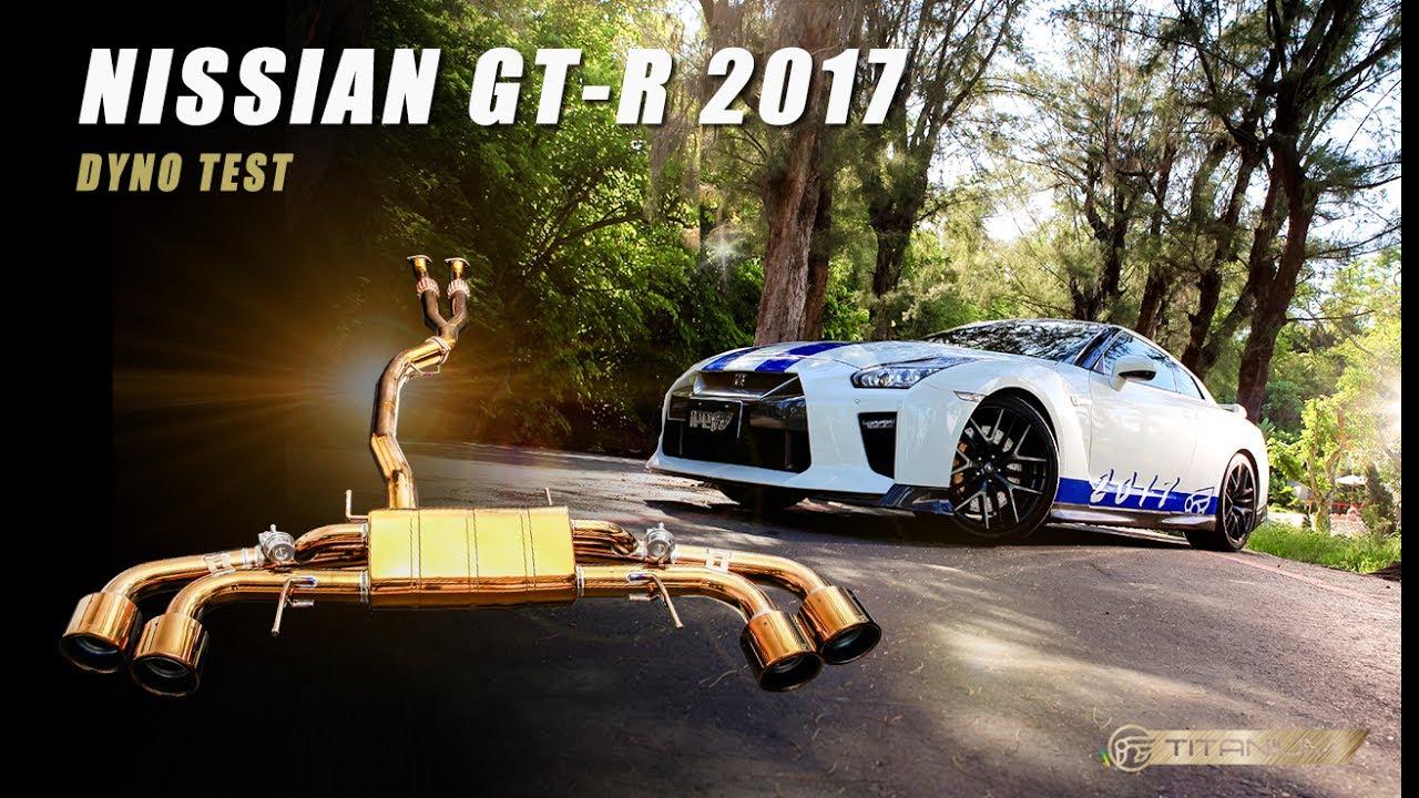 dyno run the ipe titanium exhaust for gt r r35 2017