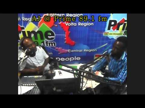 AJ Dahottest on Prime 89.1FM in Accra, Ghana