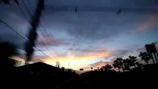朝焼けの静岡を走りました 道の駅富士の交差点からR1を東に進みます カ...