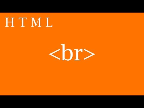 HOW TO USE HTML LINE BREAK IN (BR TAG)