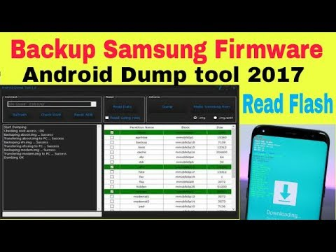 How to Backup samsung firmware | Read Samsung Firmware | Android Dump tool  1 3 2017