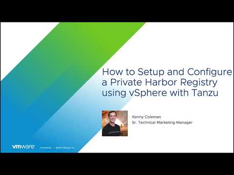 How to Set Up a Harbor Registry with Self-Signed Certificates for Tanzu Kubernetes Clusters