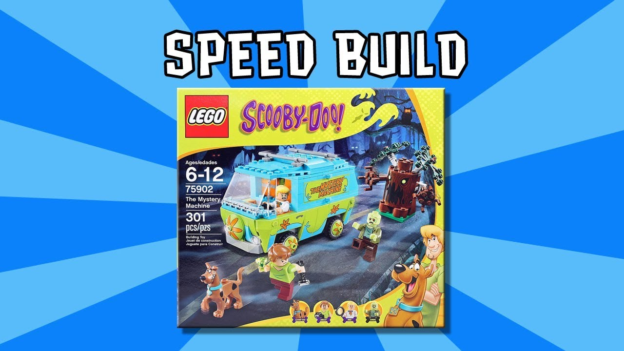 Lego Scooby Doo Mystery Machine 75902 speed build time lapse brick film video with toys minifigures