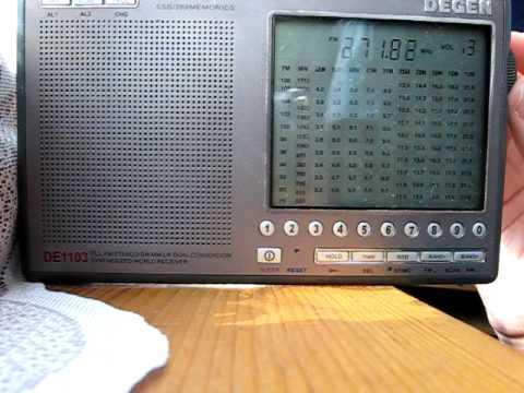 Degen DE1103 FM Sample / Приёмник DE1103 на УКВ - YouTube