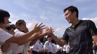 長谷部誠選手、熊本地震の被災地を訪問 (2016年6月9日) / 日本ユニセフ協会