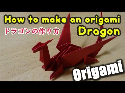 Origami 3d Dragon / 折り紙 立体 ドラゴン 折り方