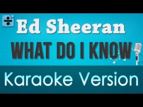 Ed Sheeran - What Do I Know Karaoke Instrumental Lyrics